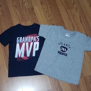 Boys 4T XS lot of 2 shirts graphic tshirts